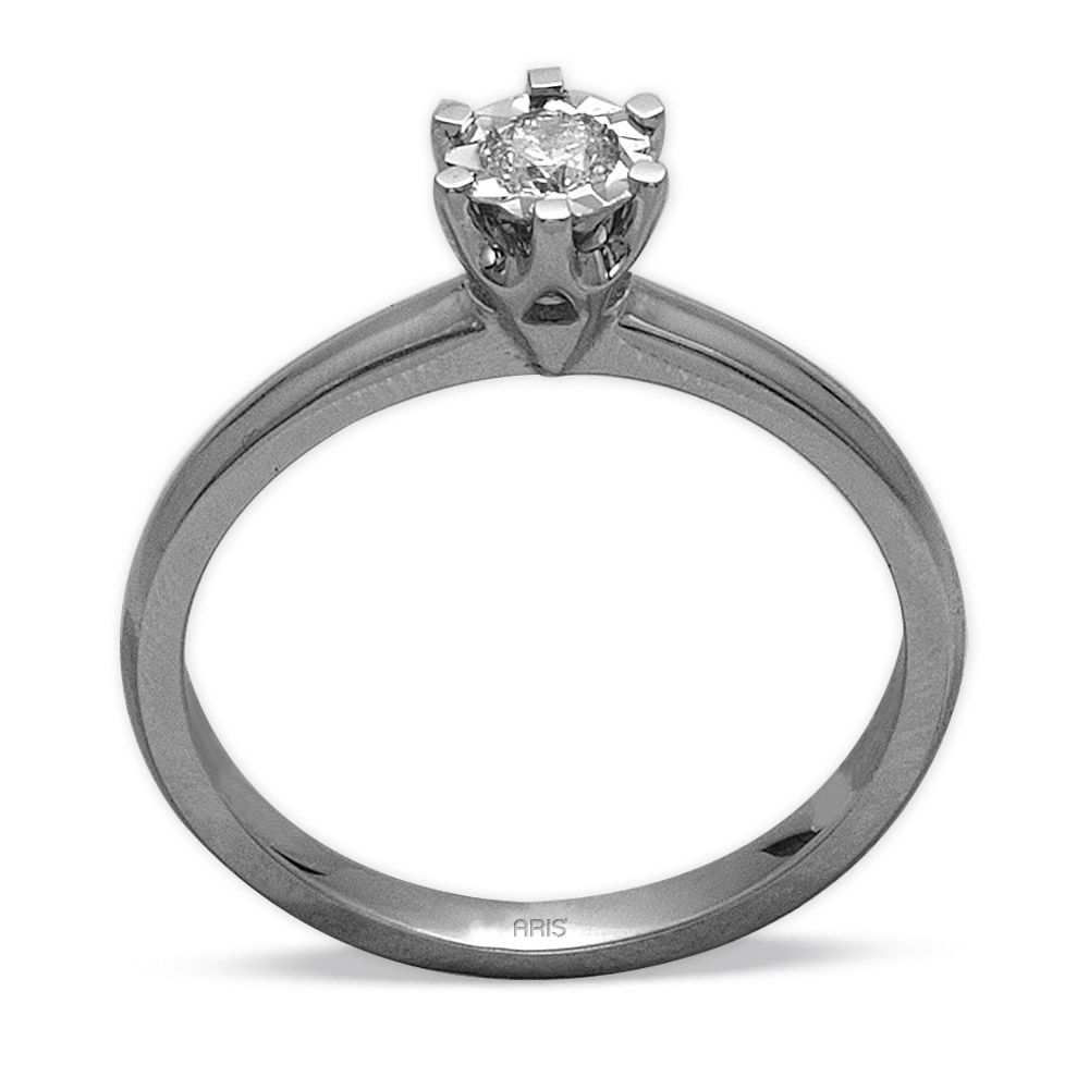 0,12 ct  Diamant Solitärring