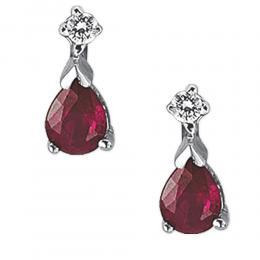 0,45 ct Rubin Diamant Ohrringe