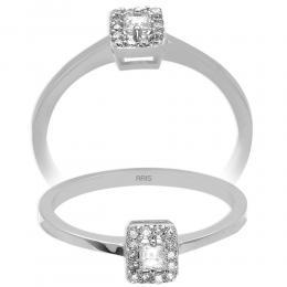 Diamant Baguette-Schliff Ring