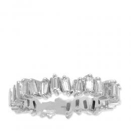 0,40 ct Diamant Baguette-Schliff Ring