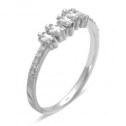 0,35 ct Diamant Baguette-Schliff Ring
