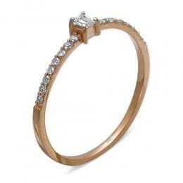 0,20 ct Diamant Baguette-Schliff Ring