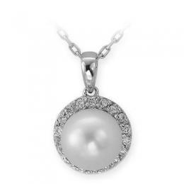 Diamant Perlen Kette