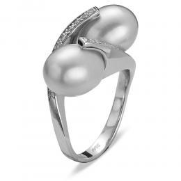 0,15 ct Diamant Perlen Ring
