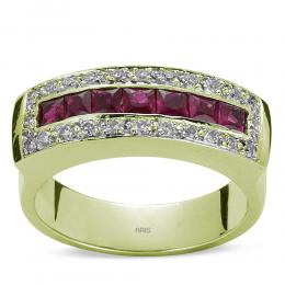 1,03 ct Rubin Diamant Ring