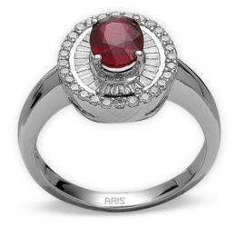 1,34 ct Rubin Diamant Ring
