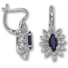1,23 ct Saphir Diamant Ohrringe