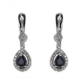 1,10 ct Saphir Diamant Ohrringe