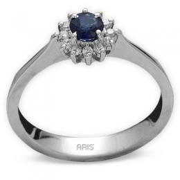 0,32 ct Saphir Diamant Ring