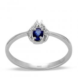 0,25 ct Saphir Diamant Ring
