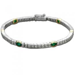 1,53 ct Smaragd Diamant Armband