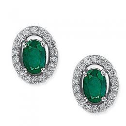 0,68 ct  Smaragd Ohrring