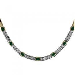 1,12 ct Smaragd Diamant Kette