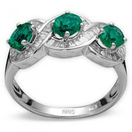 1,12 ct  Smaragd Ring