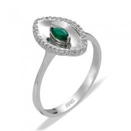 0,13 ct  Smaragd Ring
