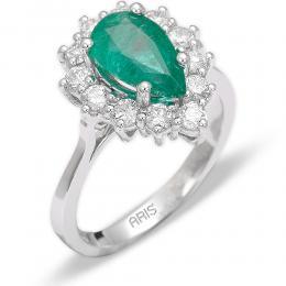 1,92 ct  Smaragd Ring