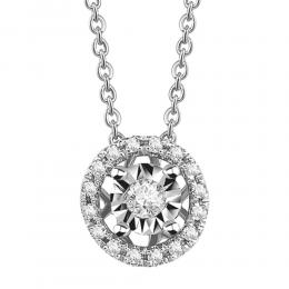 0,10 ct Diamant Miracle Solitärkette