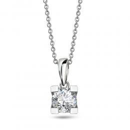 Diamant Solitaire Halskette