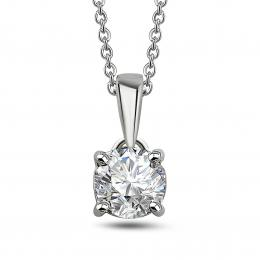 0,67 ct Diamant Solitärkette