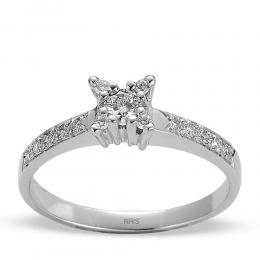 0,21 ct  Diamant Ring