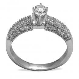 0,51 ct  Diamant Ring