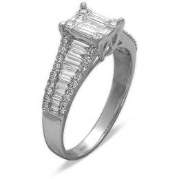 1,20 ct Diamant Baguette Ring