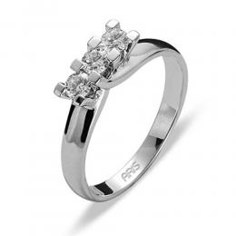 0,32 ct Diamant Tria Ring