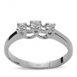 0,14 ct  Diamant Ring