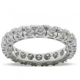 1,98 ct Diamant Memoire Ring