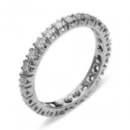 0,58 ct Diamant Memoire Ring