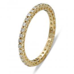 0,36 ct Diamant Memoire Ring