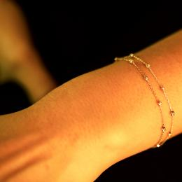 Zweireihiges Dorica Gold Armband