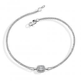 Diamant Baguette-Schliff Armband