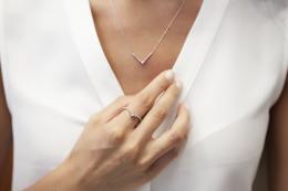 Diamant Baguette Halskette