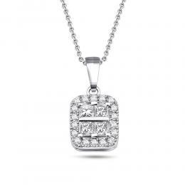 0.25 ct Diamant Baguette-Schliff Kette