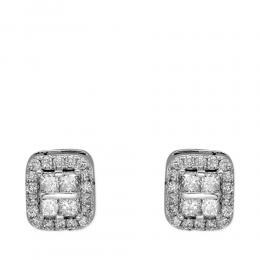 Diamant Baguette-Schliff Ohrringe