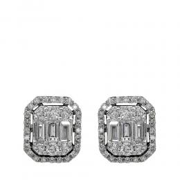 Diamant Baguette-Schliff Ohrring