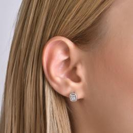0,10 ct Diamant Baguette-Schliff Ohrringe
