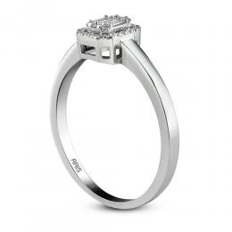0,20 ct Diamant Baguette Ring