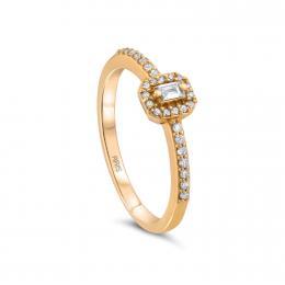 0.18 ct. Baguette Diamant Ring