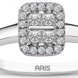 0,25 ct Diamant Baguette Ring