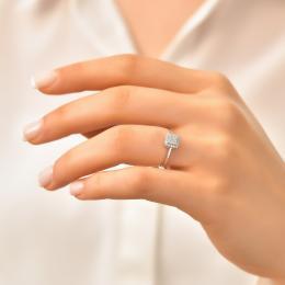 0,20 ct Diamant Baguette Ring