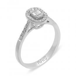 0,29 ct Diamant Baguette-Schliff Ring