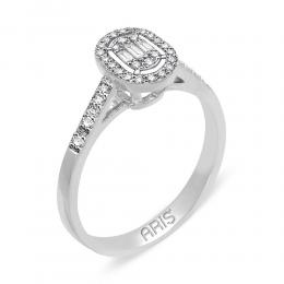 0,29 ct Diamant Baguette-Schliff Ring