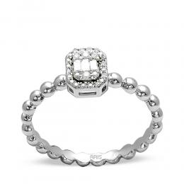 0,12 ct Diamant Baguette Ring
