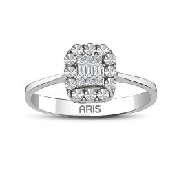 0.08 Baguette Diamant Ring