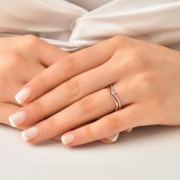 0,13 ct Diamant Baguette-Schliff Ring