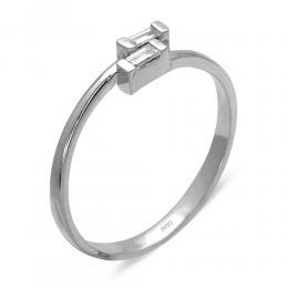 0.05 ct. Baguette Ring im Tredigen Design