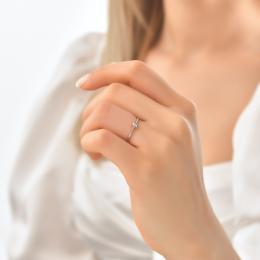 0,08 ct Diamant Baguette Ring