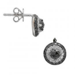 0,70 ct Schwarz Weiß Diamant Ohrringe